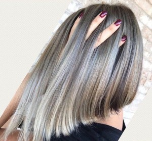 white-blonde highlights